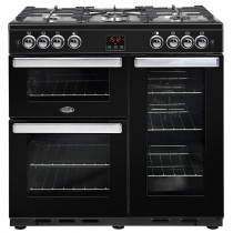 Belling Cookcentre 90cm Gas Black Range Cooker
