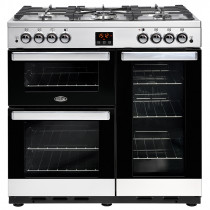 Belling Cookcentre 90cm Gas Stainless Steel Range Cooker