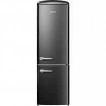 gorenje ORK193BK 188.7cm Retro Freestanding Black Right Hinge Fridge Freezer