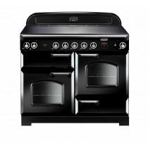 Rangemaster Classic 110 Induction Black/Chrome Trim Range Cooker
