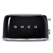 Smeg 50's Retro Style Black Four Slice Toaster