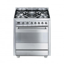 Smeg Symphony 70 Dual Fuel Stainless Steel Pyrolytic Range Cooker