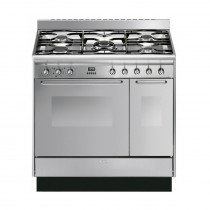 Smeg 90cm Stainless Steel Dual Fuel Range Cooker