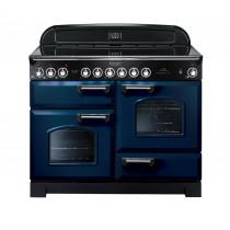 Rangemaster Classic Deluxe 110 Ceramic Range Cooker Regal Blue/Chrome