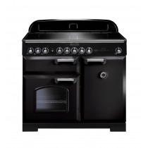 Rangemaster Classic Deluxe 100 Induction Black/Chrome Range Cooker 95920