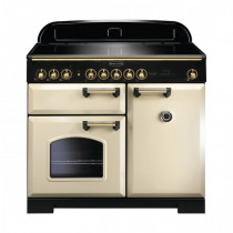 Rangemaster Classic Deluxe 100 Induction Cream/Brass Range Cooker 115580