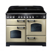 Rangemaster Classic Deluxe 110 Induction Range Cooker Cream/Chrome 90390