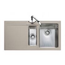 Rangemaster Cubix Gemini Oatmeal Sink Left