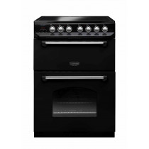 Rangemaster Classic 60 Ceramic Range Cooker Black/Chrome Trim
