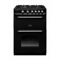 Rangemaster Classic 60 Gas Range Cooker Black/Chrome Trim