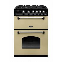 Rangemaster Classic 60 Gas Range Cooker Cream/Chrome Trim