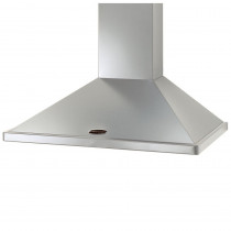 Rangemaster 100cm Chimney Cooker Hood Stainless Steel with Chrome Trim LEIHDC100SS/C 95680