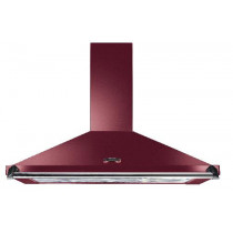Rangemaster Classic 100cm Cooker Hood Cranberry with Chrome Rail CLAHDC100CY/C 44610