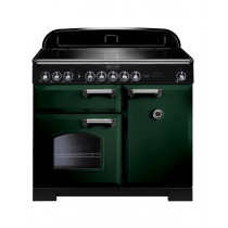 Rangemaster Classic Deluxe 100 Induction Racing Green/Chrome Trim Range Cooker CDL100EIRG/C 113990