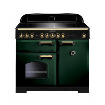 Rangemaster Classic Deluxe 100 Induction Racing Green/Brass Trim Range Cooker CDL100EIRG/B 114000