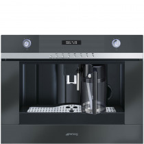 Smeg Linea 45cm Black Coffee Machine CMSC451NE