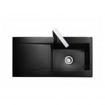 Rangemaster Nevada CNV1BL Black Ceramic Sink