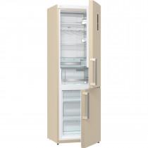 Gorenje NRK6192MCUK 185cm Freestanding Cream Fridge Freezer