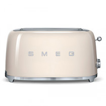 Smeg 50's Retro Style Cream Four Slice Toaster