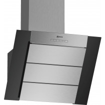 Neff N50 60cm Angled Black Glass Chimney Hood D65IBE1S0B