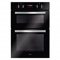 CDA Built In Black Double Oven Touch Control Timer DC940