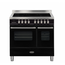Britannia Delphi 90cm Induction Twin Oven Range Cooker Black RC-9TI-DE-K  544440062