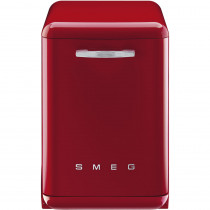 Smeg 60cm Red 50's Style Freestanding Dishwasher DF6FABRD