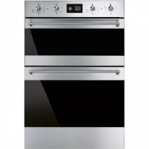 Smeg Classica Aesthetic 60cm Stainless Steel & Dark Glass Multifunction Oven DOSF6390X