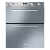 Smeg Cucina Built-Under 60 Stainless Steel Double Oven