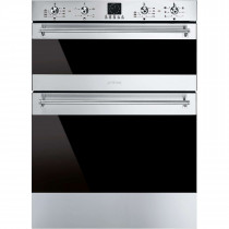 Smeg Classic Built-Under 60 Stainless Steel Double Oven