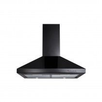 CDA 70 Black Chimney Extractor Hood - ECH71
