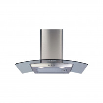 CDA 70 Curved Glass Stainless Steel Extractor Hood