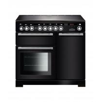 Rangemaster Encore Deluxe 100 Induction Black/Chrome Trim Range Cooker