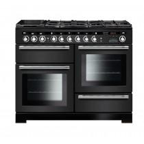 Rangemaster Encore Deluxe 110 Dual Fuel Charcoal Black Range Cooker EDL110DFFCB/C 127660