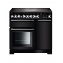 Rangemaster Encore Deluxe 90 Induction Black Range Cooker EDL90EIBL/C 117300