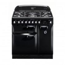 Rangemaster Elan 90 Dual Fuel Black Range Cooker ELAS90DFFBL/ 72900