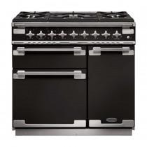 Rangemaster Elise 90 Dual Fuel Gloss Black Range Cooker ELS90DFFGB/ 108410