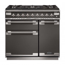 Rangemaster Elise 90 Dual Fuel Slate Range Cooker  ELS90DFFSL/ 108470
