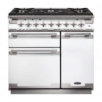 Rangemaster Elise 90 Dual Fuel White Range Cooker ELS90DFFWH/ 108480