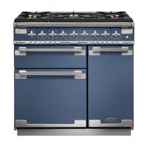 Rangemaster Elise 90 Dual Fuel Stone Blue Range Cooker ELS90DFFSB/ 127100