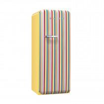Smeg FAB28QCS1 50's Retro Style Colour Stripe Fridge with Ice Box