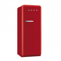 Smeg FAB28QR1 50's Retro Style Red Fridge with Ice Box