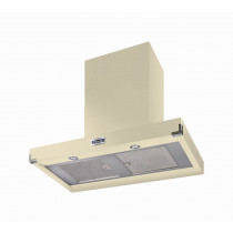 Falcon 900 Contemporary Cream Cooker Hood Chrome