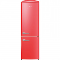 gorenje ORK193RD 188.7cm Retro Freestanding Fire Red Fridge Freezer