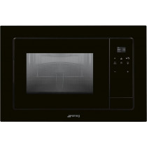 Smeg Linea Black Built-In Microwave with Electric Grill FMI120N