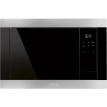 Smeg Classic Stainless Steel Built-In Microwave Oven with Grill FMI320X