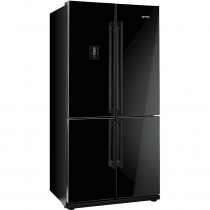 Smeg FQ60NPE Black American Fridge Freezer