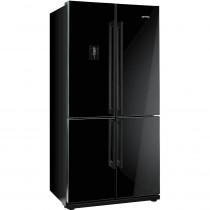 Smeg FQ60NPE Black American Fridge Freezer