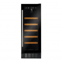 CDA 300mm Freestanding Under Counter Black Wine Cooler