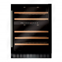 CDA 600mm Freestanding Under Counter Black Wine Cooler
